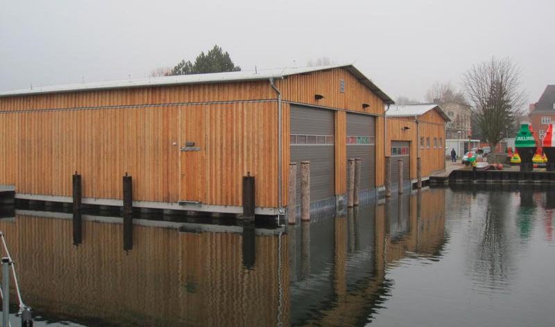 Neubau Bootsschuppen in Waren