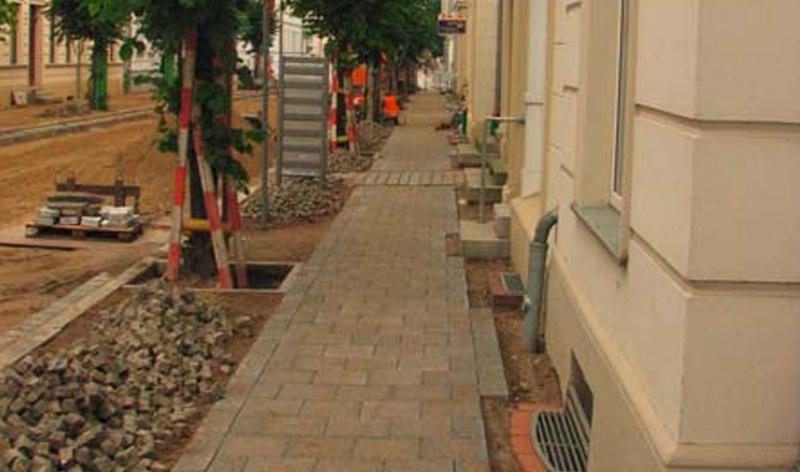 Stadtstraße Elisabethstraße in Neustrelitz